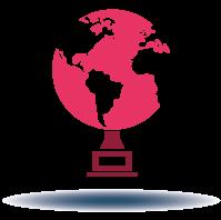 Globe trophy icon